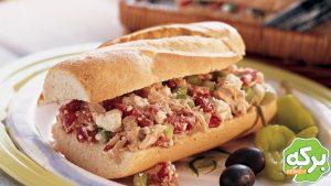 سـاندویچ تن مـاهی یونانی - دستور آشپزی - تن ماهی - برکه