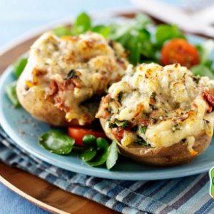 خوراک سیب زمینی و تن ماهی - دستور آشپزی - تن ماهی - برکه