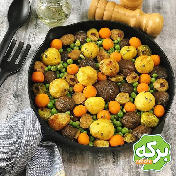 طرز تهیه رست سبزیجات